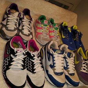 6 pairs of Used Nike Shoes Size 8.5